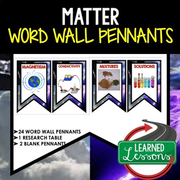 Matter Word Wall Pennants (Physical Science Word Wall)