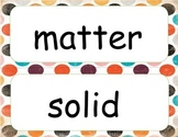 Matter~ Word Wall and Write the Room