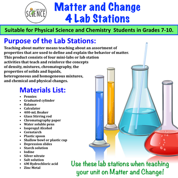 Matter and Change Lab Stations