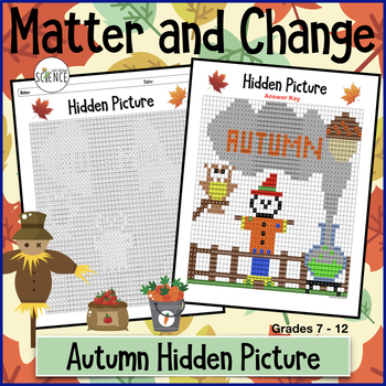 Matter and Change Autumn / Fall Themed (Color By Number)
