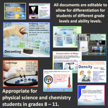Matter and Change Powerpoint with Notes
