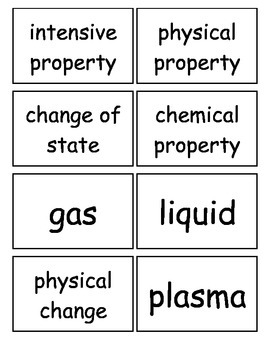 Matter and Change Chapter Flashcards, High School Chemistry