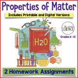 Matter and Change Homework (Elements, Compounds, Mixtures) Set of 2