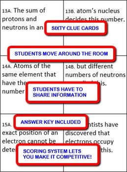 Matter and Change: Interdependent Divided Questions Activity