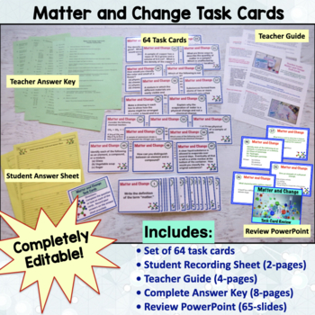 Matter and Change Bundle   Printable and Digital Distance Learning
