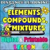 Matter and Chemistry Digital & Printable Lesson- Elements, Compounds, & Mixtures