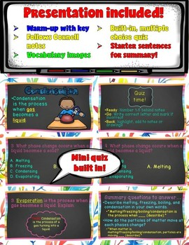 Matter and Chemistry Lesson- States of Matter (Digital and Printable)