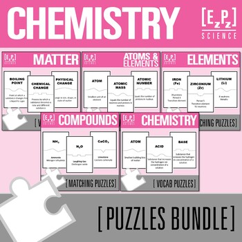 Matter and Chemistry Science Puzzles Bundle