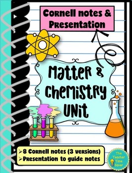 Matter and Chemistry Unit Bundle- Cornell notes and Presentation
