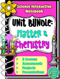 States of Matter Atoms & Elements Physical Science Notebook Bundle