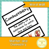 Matter and Chemistry Word Wall/Vocabulary Cards