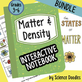 Matter and Density Interactive Notebook BUNDLE Science Doodle