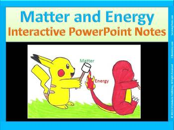 Matter and Energy: Easy-to-Copy Interactive PowerPoint not