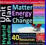 Matter, Energy & Change Topic Bundle: 5 Essential Skills Lessons for HS Chem