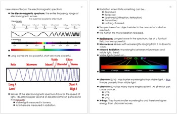 Matter and Energy Unit Notes, Physical Science Curriculum Information