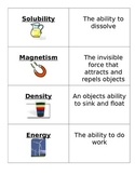 Matter and Energy Vocabulary Cards