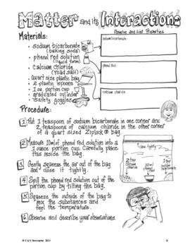 NGSS Grade 5 Investigate Mixing Matter  Performance Assessment