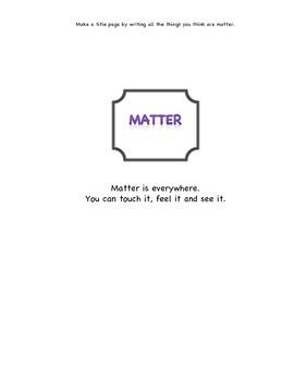 Matter and Materials Grade 1 Unit