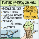 Matter and Phase Changes Comic with Doodle Notes
