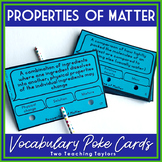 Matter and Physical Properties Vocabulary Activity   Poke Cards