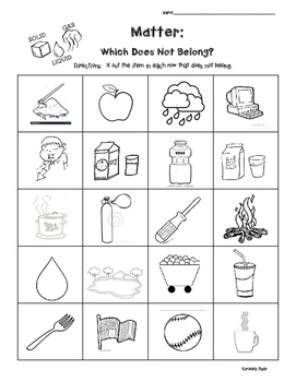 Matter and Science - Solids, Liquids and Gases - Which Does Not Belong?