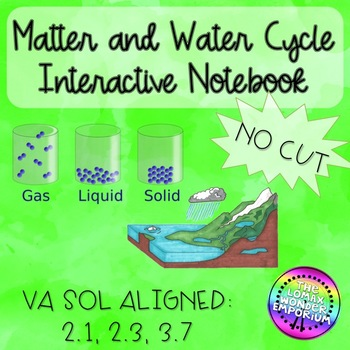 Matter and Water Cycle No Cut Interactive Notebook