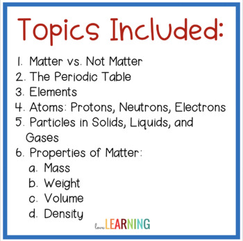 Matter and its Properties {Lesson, Interactive Notes, Labs}