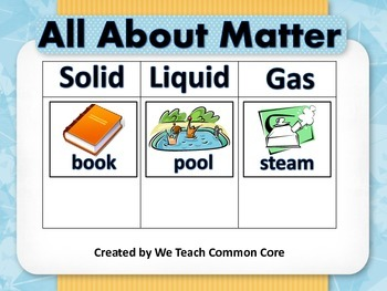 Matter and the States of Matter Whole Group and Small Grou