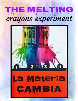 Matter changes- crayon melting experiment in Spanish & English