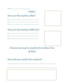 Matter classification