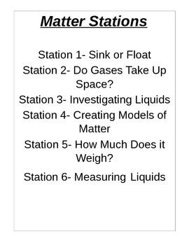 Matter investigation stations