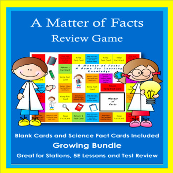 Matter of Facts:  A Game for Reviewing Science Facts or other Subjects