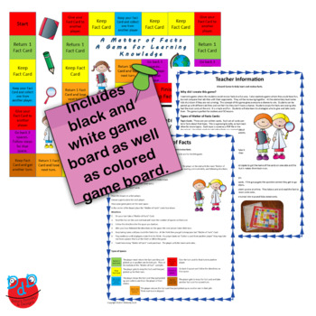 Review Game: Board Game for Reviewing Science Facts and other Subjects.