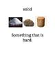 Matter vocabulary