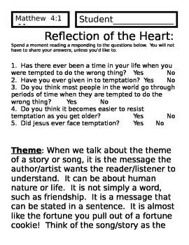 Matthew 4 : 1-11 Jesus is Tempted?