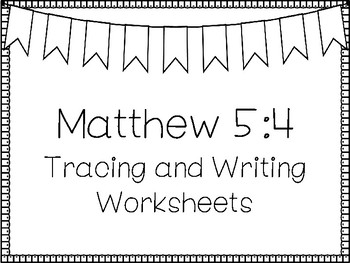 Beatitudes For Kids-Matthew 5:4 Handwriting and Color Worksheets  Bible  Study