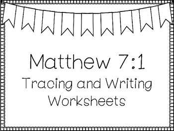 matthew 7 1 handwriting and color worksheets children 39 s bible study. Black Bedroom Furniture Sets. Home Design Ideas