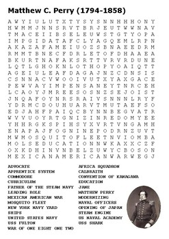 Matthew C Perry Word Search