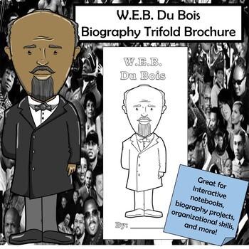 W.E.B. Du Bois Biography Trifold Brochure