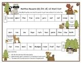 Matthew Racoon's OO, EW, UE, UI Word Hunt Literacy Station RF.1.3, RF.2.3
