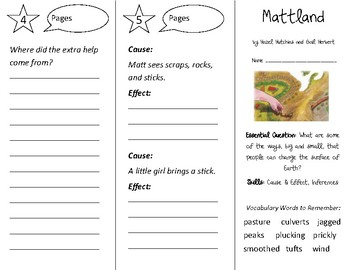 Mattland Trifold - Open Court 2nd Grade Unit 2 Lesson 1