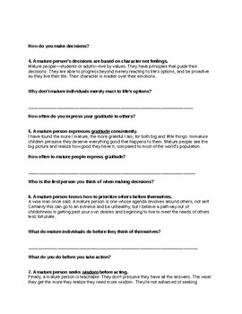 Maturity Level Survey