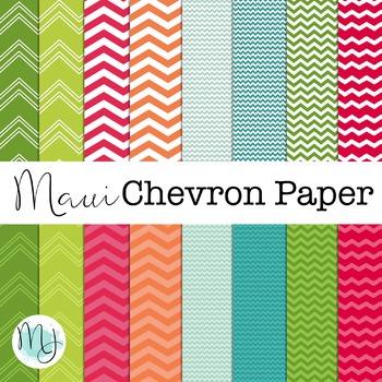 Maui Chevron Paper Set