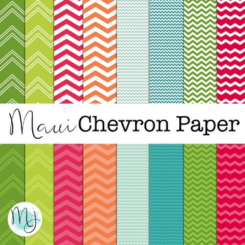 Maui Chevron Paper Set