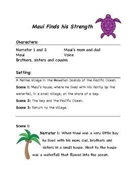 Maui Finds His Strength; A reader's theater script; Native Hawaiian legend