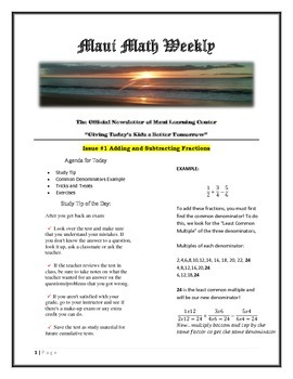 Maui Math Weekly News
