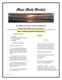 Maui Math Weekly News