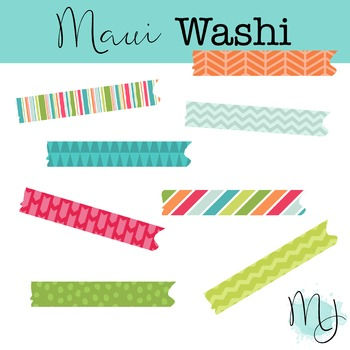 Maui Washi Tape Clipart