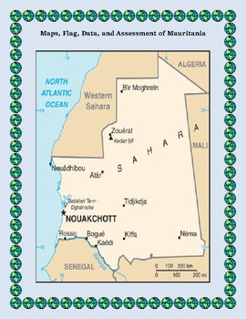 Mauritania Geography, Flag, Data, Maps Assessment - Map Skills and Data Analysis