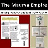 The Maurya Empire Reading Handout & Mini Book Activity - A